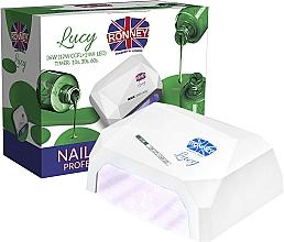 Парфюмерия и Козметика Лампа CCFL+LED за нокти, бяла - Ronney Profesional Lucy CCFL + LED 36W (GY-LCL-021) Lamp
