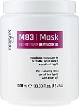 Парфюмерия и Козметика Възстановяваща маска за всеки тип коса с арганово масло - Dikson M83 Restructuring Mask
