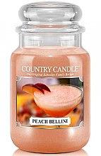 Парфюми, Парфюмерия, козметика Ароматна свещ в бурканче - Country Candle Peach Bellini
