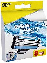 Парфюмерия и Козметика Сменяеми ножчета за бръснене, 8 бр - Gillette Mach3 Start