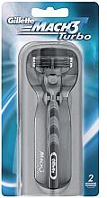 Парфюми, Парфюмерия, козметика Бритва с 2 сменными кассетами - Gillette Mach 3 Turbo