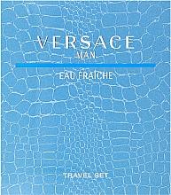 Парфюмерия и Козметика Versace Man Eau Fraiche - Комплект (тоал. вода/100ml + душ гел/100ml)