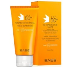 Парфюми, Парфюмерия, козметика Слънцезащитен крем за лице SPF 50+ - Babe Laboratorios Fotoprotector Facial Sunscreen