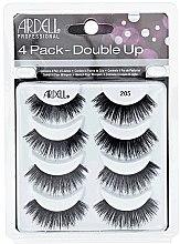 Парфюми, Парфюмерия, козметика Комплект изкуствени мигли - Ardell Double Up 4 Pack 205 Lashes (8бр)