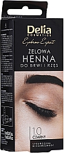 Парфюмерия и Козметика Гел-къна за вежди и мигли, черна - Delia Eyebrow Tint Gel ProColor 1.0 Black