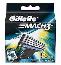 Парфюми, Парфюмерия, козметика Сменяеми ножчета за самобръсначка, 8 бр. - Gillette Mach3