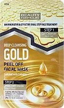 Парфюмерия и Козметика Почистващ гел + златна маска за лице - Beauty Formulas Deep Cleansing Gold Peel Off Facial Mask