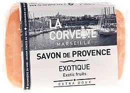 """Парфюми, Парфюмерия, козметика Провансалски сапун """"Екзотични продукти"""" - La Corvette Provence Soap Exotic Fruits"""