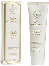 Парфюмерия и Козметика Крем за бръснене с авокадо - Taylor of Old Bond Street Avocado Luxury Shaving Cream (в тубичка)