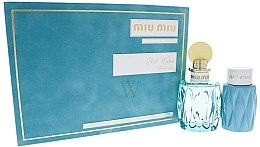 Парфюми, Парфюмерия, козметика Miu Miu L'Eau Bleue - Комплект (парф. вода/10ml + лосион за тяло/100ml)
