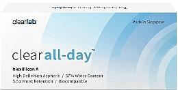 Парфюмерия и Козметика Контактни лещи, 3 бр. - Clearlab Clear All-day