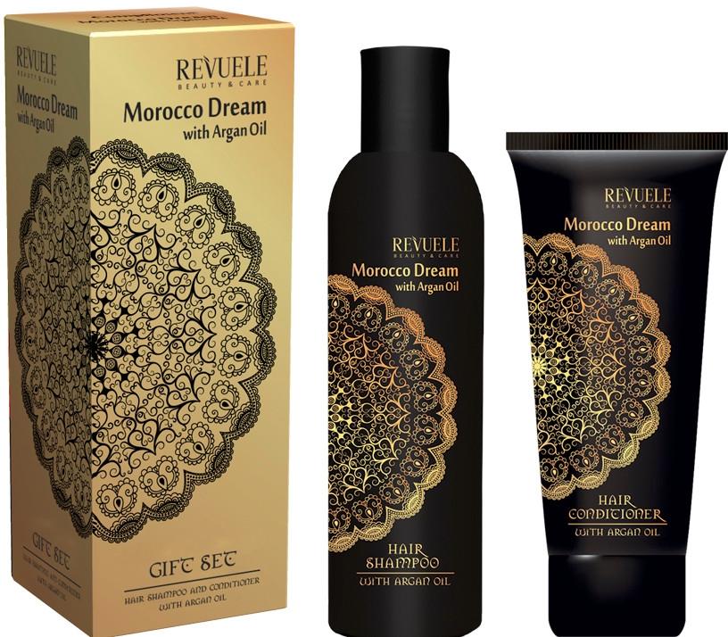Комплект шампоан и балсам с арганово масло - Revuele Morocco Dream (shm/250ml + conditioner/200ml)