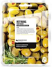 """Парфюми, Парфюмерия, козметика Памучна маска за лице """"Маслина"""" - Superfood For Skin Refining Sheet Mask"""