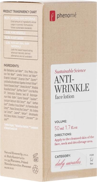 Лосион за лице против стареене - Phenome Sustainable Science Anti-Wrinkle Face Lotion