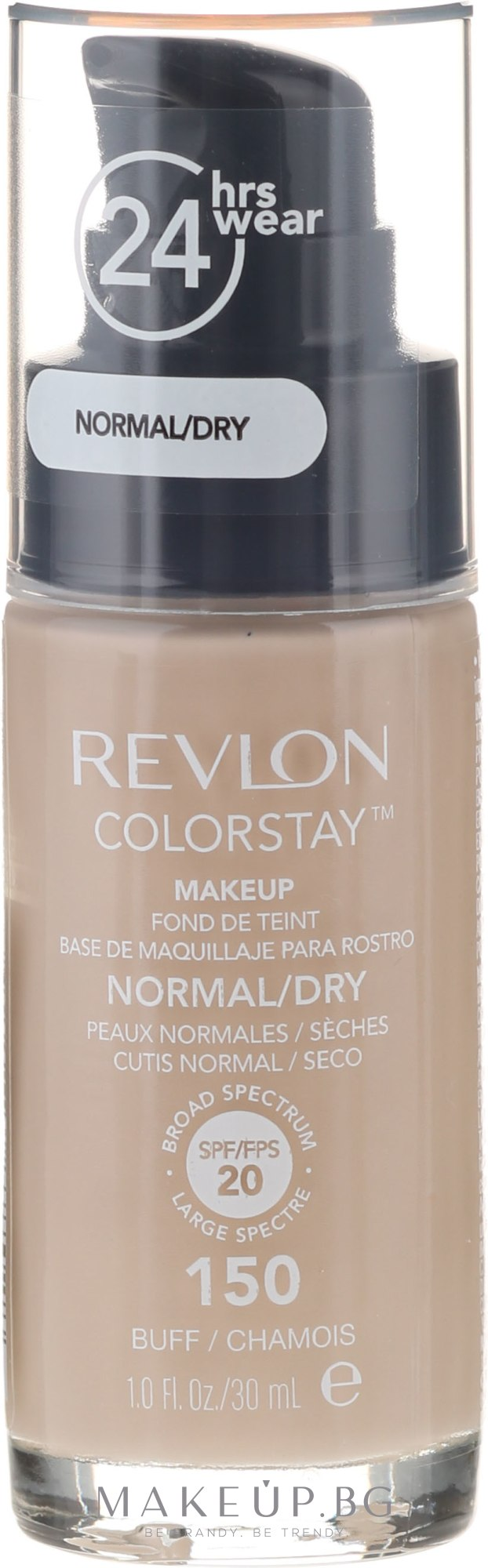 Фон дьо тен - Revlon ColorStay Foundation For Normal/Dry Skin SPF20 — снимка 150 - Buff