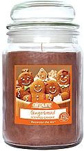 """Парфюмерия и Козметика Ароматна свещ """"Джинджифилови бисквитки"""" - Airpure Jar Scented Candle Gingerbread"""