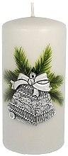 """Парфюми, Парфюмерия, козметика Декоративна свещ """"Сребърна коледна камбана"""", 7x14 cm Artman Christmas Bell Candle - Artman Christmas Bell Candle"""
