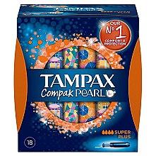 Парфюми, Парфюмерия, козметика Дамски тампони с апликатор, 18 бр. - Tampax Pearl Compak Super Plus