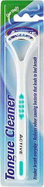 Почистваща четка за език, бяло-зелена - Beauty Formulas Active Oral Care Tongue Cleaner