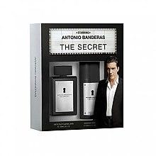Парфюми, Парфюмерия, козметика Antonio Banderas The Secret - Комплект (edt/50ml + deo/150ml)