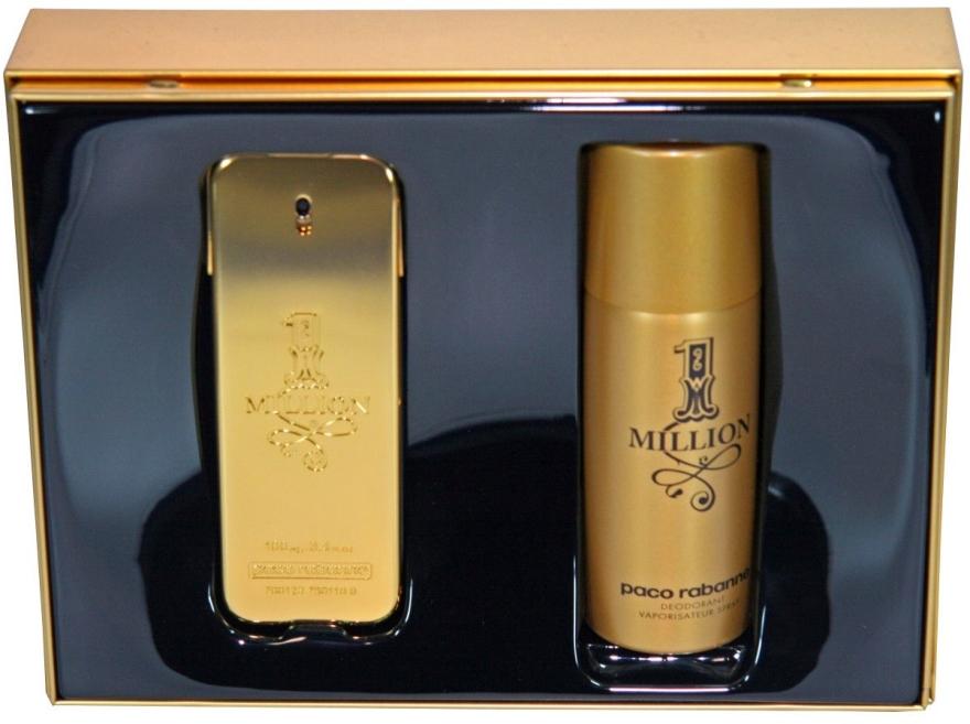 Paco Rabanne 1 Million - Комплект (тоал. вода 100мл + дезодорант 150мл) — снимка N1