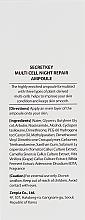 Нощен серум за лице - Secret Key Multi Cell Night Repair Ampoule — снимка N3