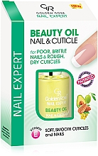 Масло за нокти и кожички - Golden Rose Nail Expert Beauty Oil Nail & Cuticle — снимка N1