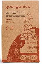 Парфюмерия и Козметика Почистващи таблетки за уста с портокал - Georganics Mouthwash Tablets Refill Pack Orange (пълнител)
