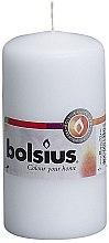 Парфюми, Парфюмерия, козметика Цилиндрична свещ, бяла, 120х60 мм - Bolsius Candle
