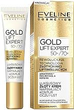 Парфюмерия и Козметика Крем за околоочен контур и устни - Eveline Cosmetics Gold Lift Expert 50+\70+
