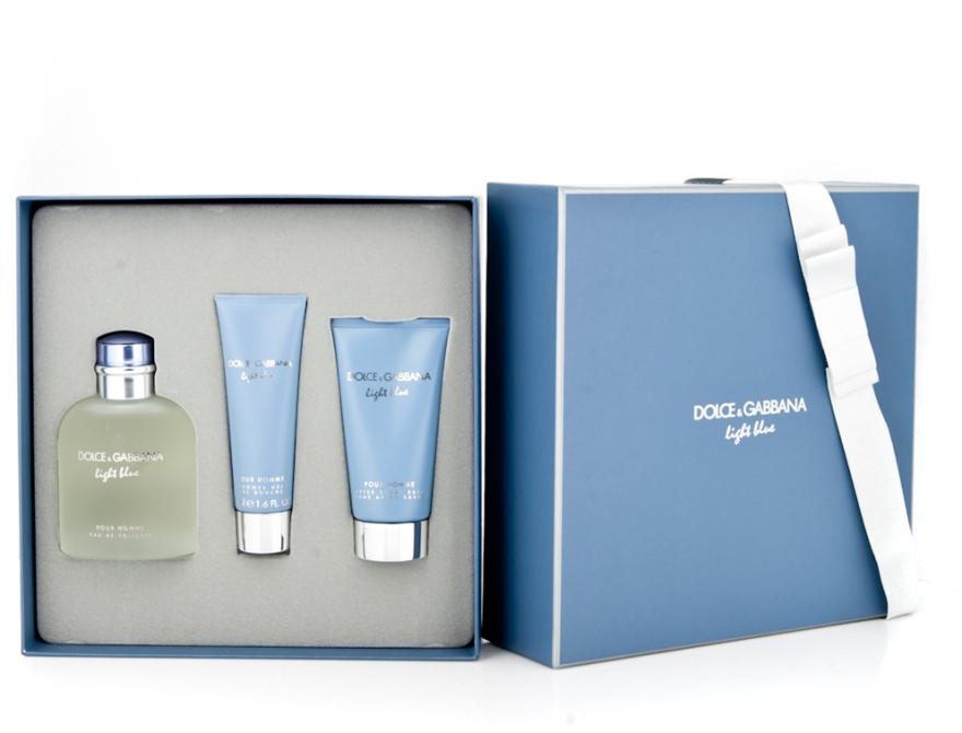 Dolce & Gabbana Light Blue Pour Homme - Комплект (edt 125 + sh/g 50 + a/sh balm 75) — снимка N6