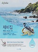 Парфюмерия и Козметика Памучна маска за лице с екстракт от лястовиче гнездо - Esfolio Bird's Nest Essence Mask Sheet