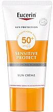 Парфюми, Парфюмерия, козметика Слънцезащитен крем за нормална и суха кожа - Eucerin Sun Sensitive Protect Cream SPF50+ (tester)