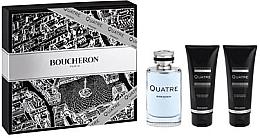 Парфюми, Парфюмерия, козметика Boucheron Quatre Boucheron Pour Homme - Комплект (тоал. вода/100ml + афтър. балсам/100ml + душ гел/100ml)