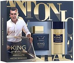 Парфюми, Парфюмерия, козметика Antonio Banderas King of Seduction Absolute - Комплект (edt/100ml + deo/150ml)