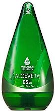 Парфюмерия и Козметика Универсален гел с алое вера за лице, тяло и коса - Miracle Island Aloevera 95% All In One Gel