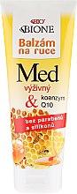 Парфюмерия и Козметика Подхранващ балсам за ръце - Bione Cosmetics Honey + Q10 Cream