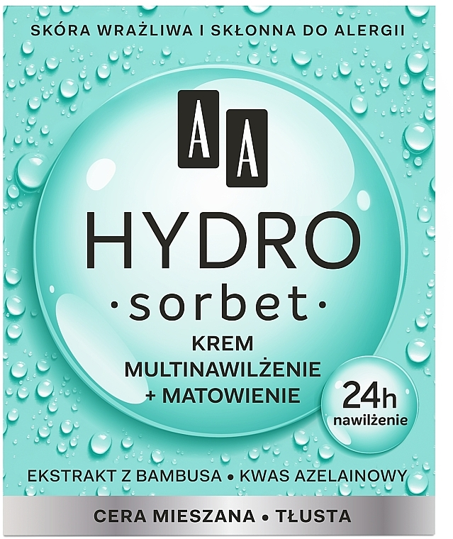 Матиращ мултифункционален крем за лице - AA Hydro Sorbet Moisturising & Mattifying Cream