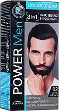 Парфюмерия и Козметика Устойчива боя за коса 3 в 1 за мъже - Joanna Power Man Color