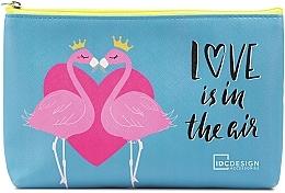 Парфюмерия и Козметика Козметичен несесер с принт, син - IDC Design Accessories Cosmetig Bag
