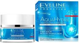 Парфюми, Парфюмерия, козметика Интензивен укрепващ крем-серум против бръчки - Eveline Cosmetics Aqua Hybrid Cream-Serum 45+
