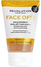 Парфюмерия и Козметика Пилинг маска за лице - Revolution Skincare Face Off! Gold Glitter Face Off Mask