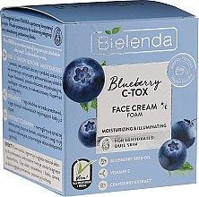 Парфюмерия и Козметика Хидратираща и изсветляваща крем-пяна за лице - Bielenda Blueberry C-Tox Face Cream