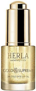 Сухо масло за лице - Herla Gold Supreme 24K Gold Face Dry Oil — снимка N1