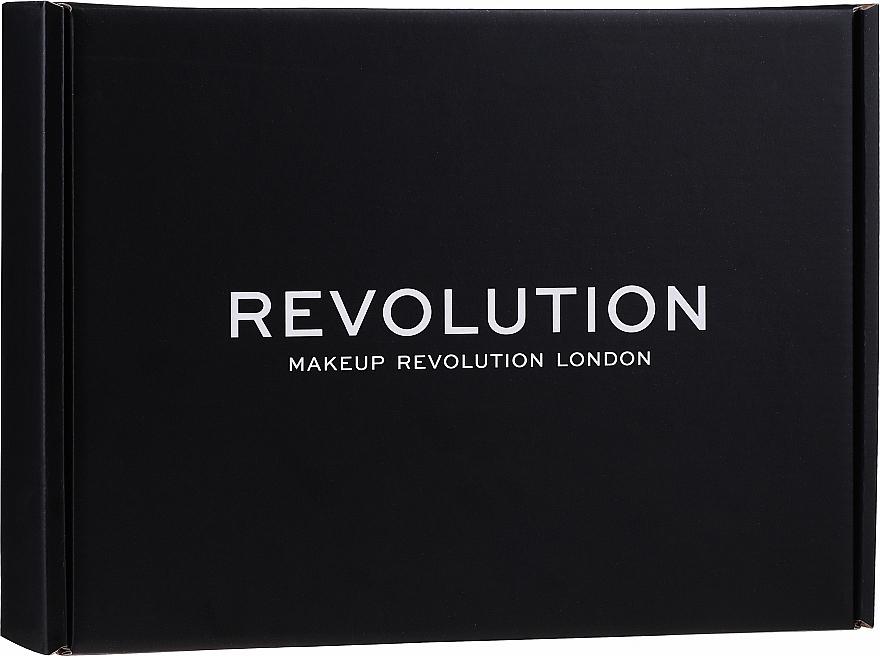 Комплект за грим - Makeup Revolution Black Box Set № 1 (сенки за очи/16g + хайлайтър/14g + пудра/5.5g + гел за вежди/6ml + контуриращ стик/6.2g + червило/3.5g + балсам за устни/2.2g)