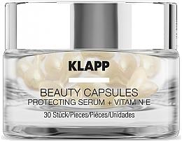 Парфюмерия и Козметика Капсули със защитен серум за лице - Klapp Beauty Capsules Protecting Serum + Vitamin E