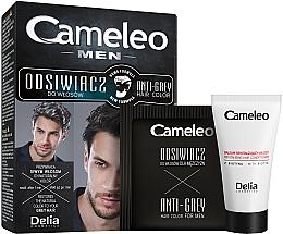 Парфюмерия и Козметика Еднократна боя за коса за прикриване на белите коси за брюнети - Delia Cameleo Men Anti Grey Hair Color