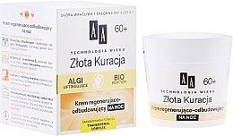 Парфюмерия и Козметика Нощен възстановяващ крем за лице 60+ - AA Cosmetics Age Technology Regenerating And Restoring Night Cream
