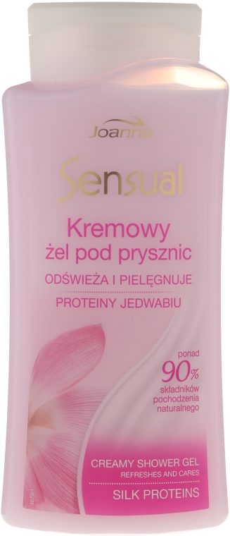 Крем душ гел с копринен протеин - Joanna Sensual Shower Gel