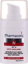 Парфюмерия и Козметика Интензивен околоочен крем за отоци и тъмни кръгове - Pharmaceris N Opti-Capilaril Intensive Eye Cream Reducing Dark Circles and Puffiness